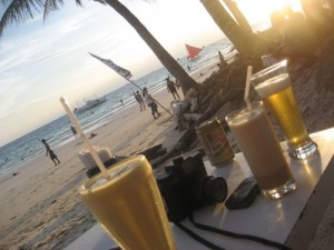 Drinking at the Beach