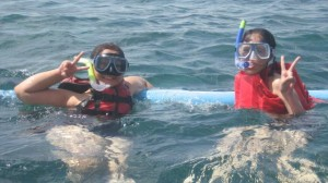 Snorkeling with Maire last June 2009