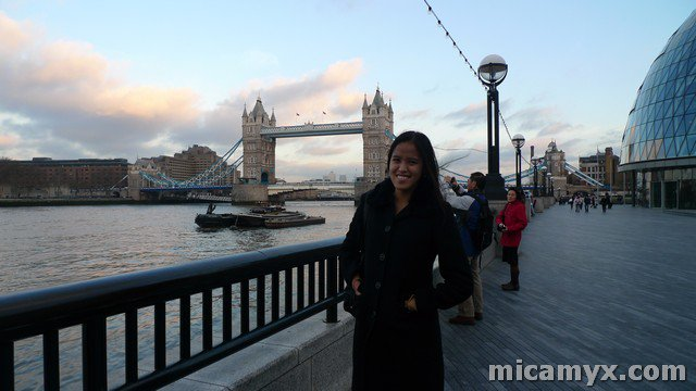 Tower Bridge behind me