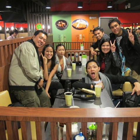 Hungry travelers can't wait to eat... in a Japanese resto.