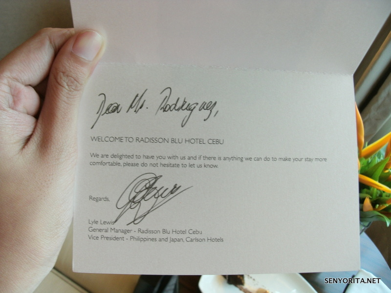 Personalized welcome note from the General Manager