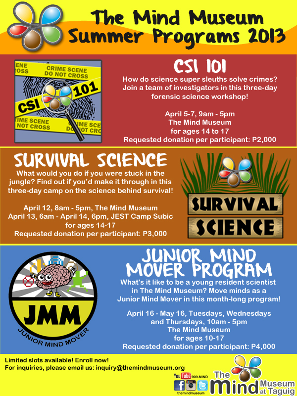 The Mind Museum Summer Programs 2013