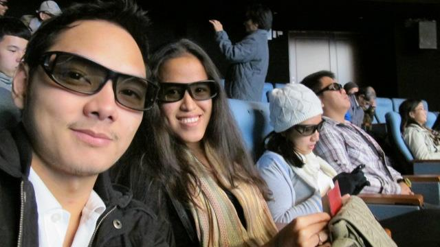 Kevin, Me and Hannah inside the 4D movie theater