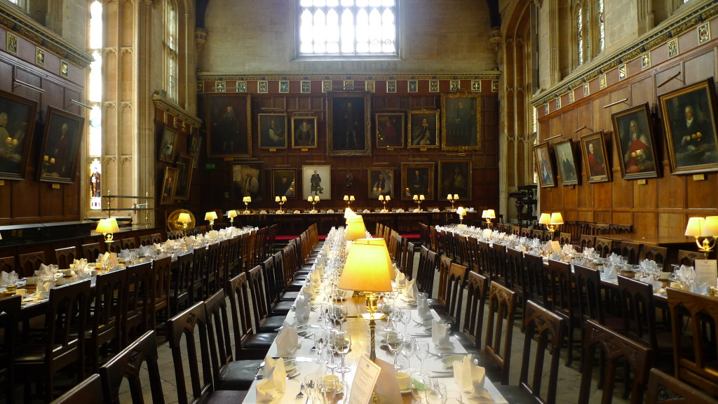 The famous Dining Hall of Christ Church. Harry Potter fans will surely recognize.