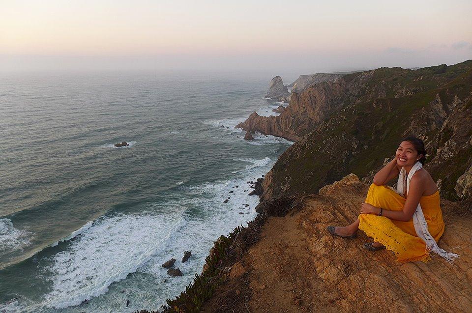 Catherine in Cabo da Roca, Portugal