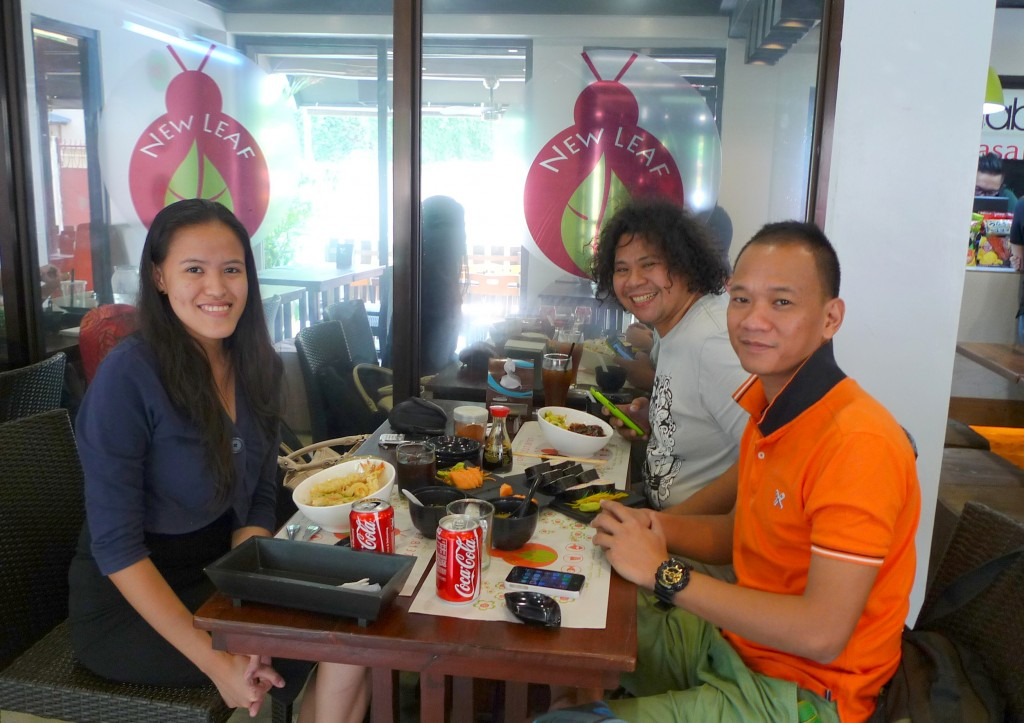 Lunch with Eric and Simon before traveling to Lingayen