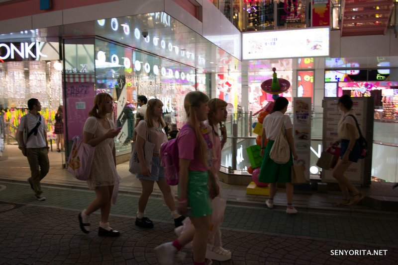 Japanese teenagers on a Sunday shopping trip