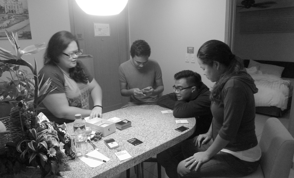 Playing card games with friends makes staycation fun!