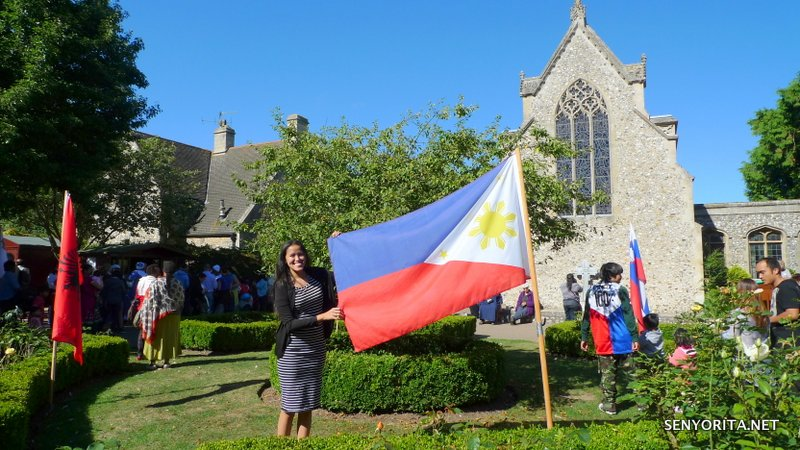 Found the Philippine flag at the back of Slipper Chapel :)