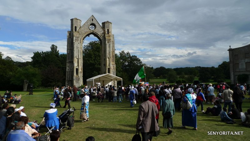 Walsingham Abbey remains - the last stop