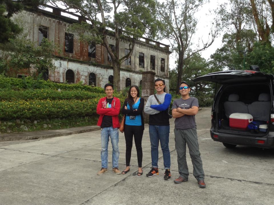 Our angas pose outside Diplomat Hotel Photo by Kenneth
