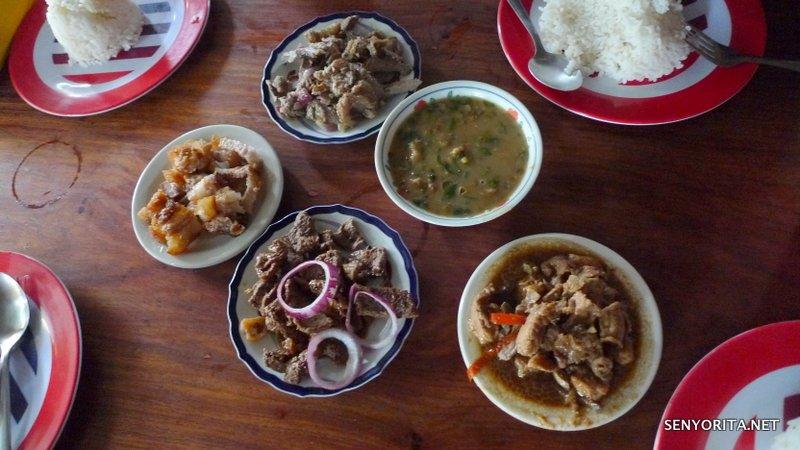 Delicious Ilocano favorites served in a carinderia