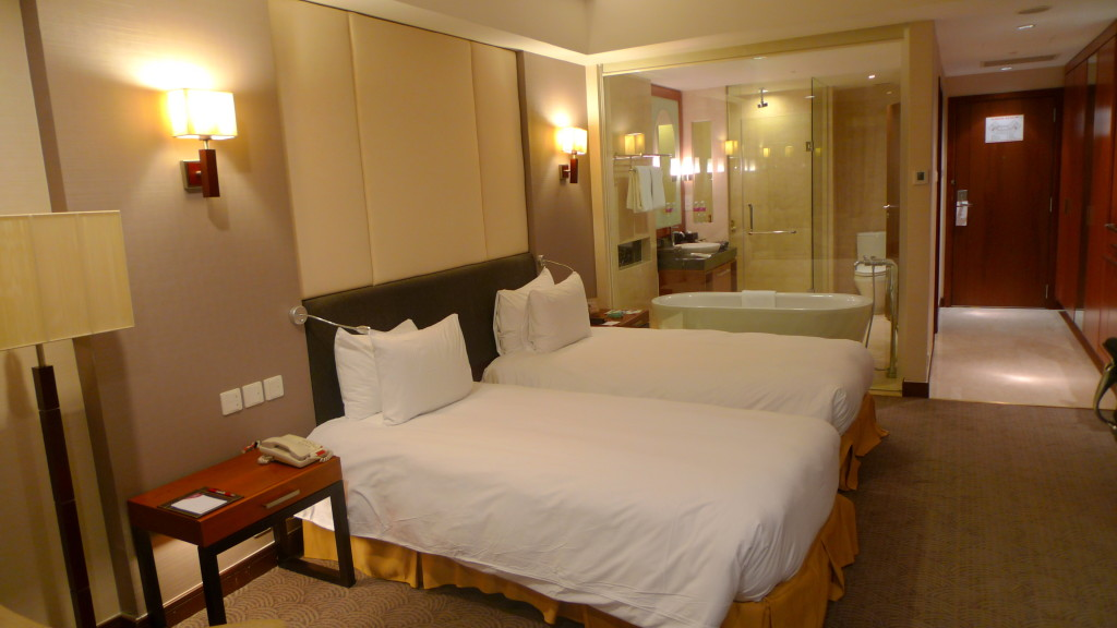 Our room at Crowne Plaza West Hanoi