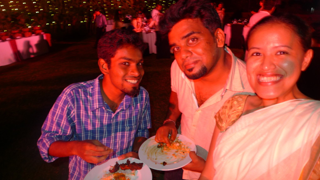 With my friends Arun and Vineeth :D
