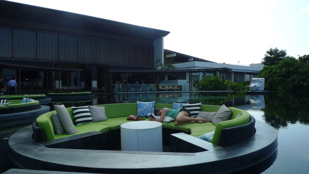 My outdoor bedroom at W Retreat Koh Samui - Just kidding :P