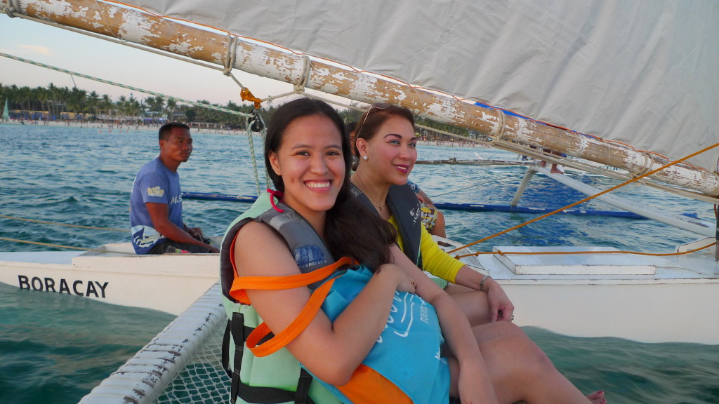 Her first paraw sailing ride! Took me hours of convincing to make this happen!