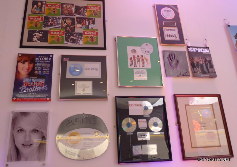 Walkers Crisps wrappers and some Spice Girls awards