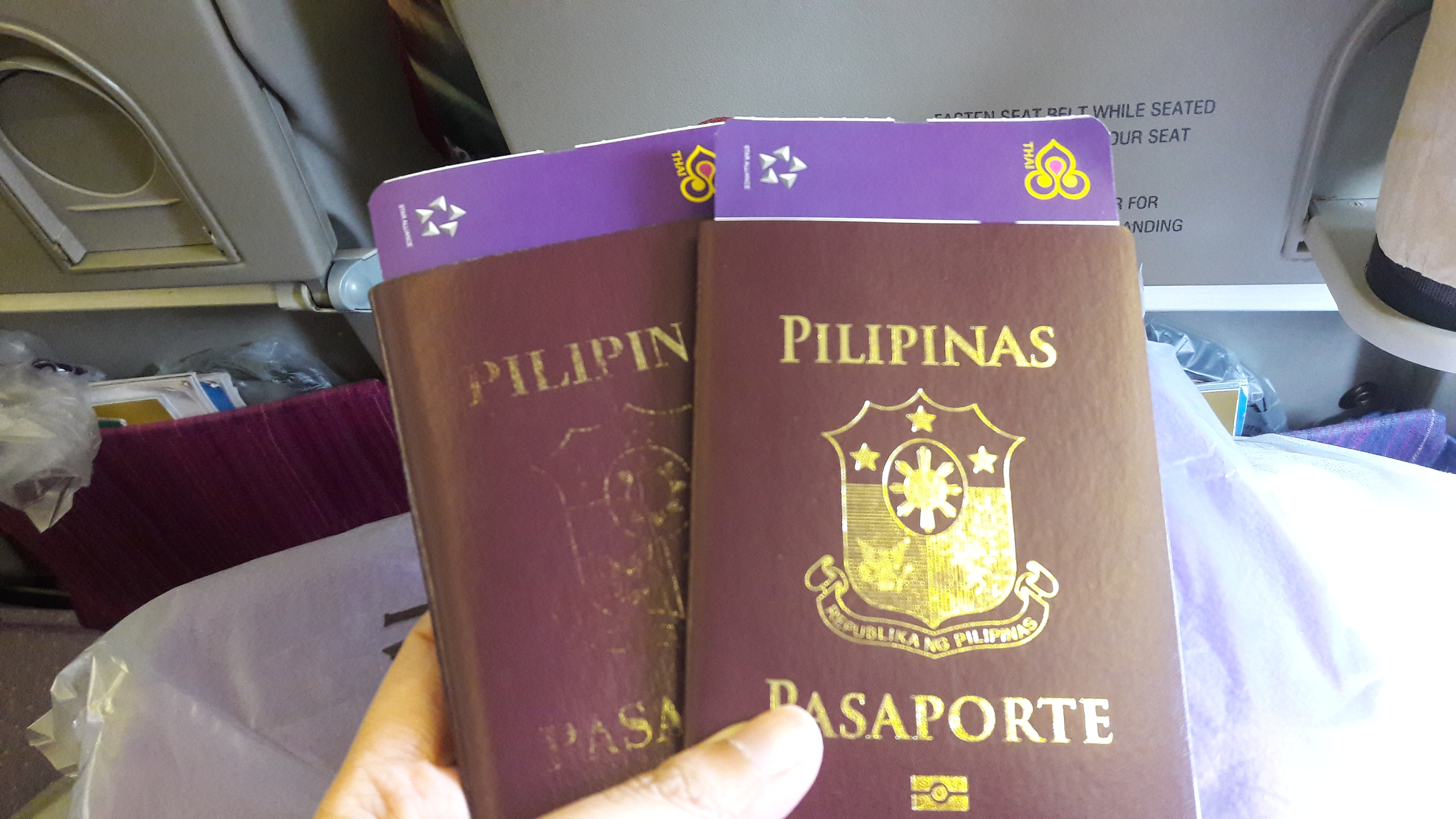 Our passports!