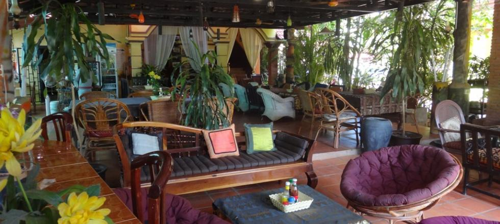 Lounge and Restaurant area of Victory Guesthouse - ideal for digital nomads
