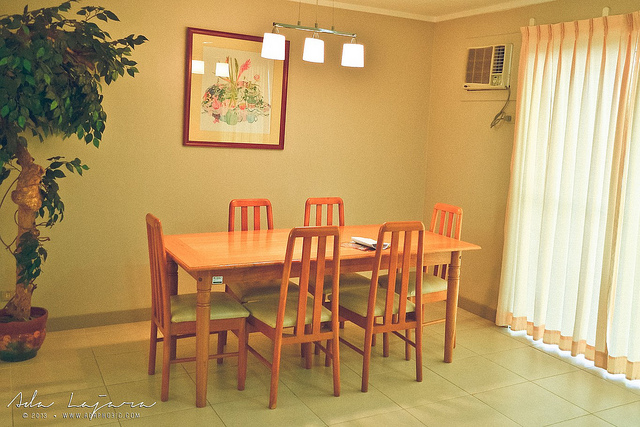 Dining area of Subic Homes' vacation villa