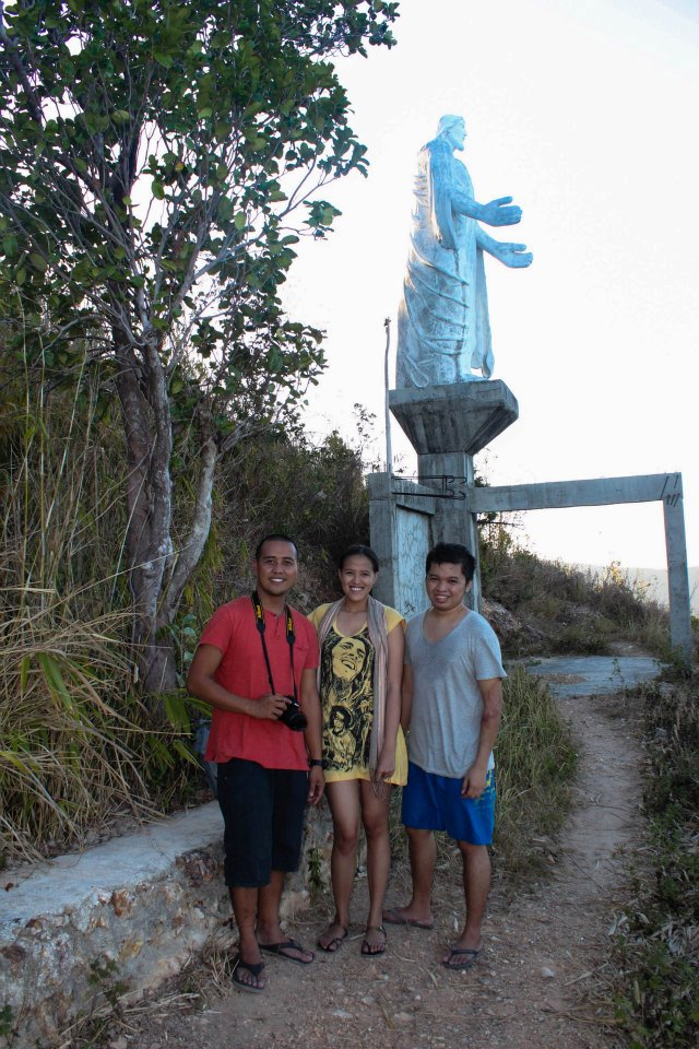 With Jun and Yoshke at Culion's Aguila viewpoint