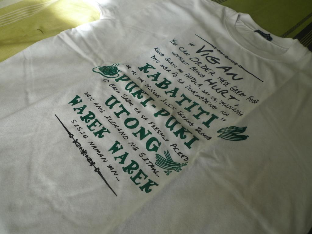 Best Souvenir Shirt from Vigan. Mangan ka?