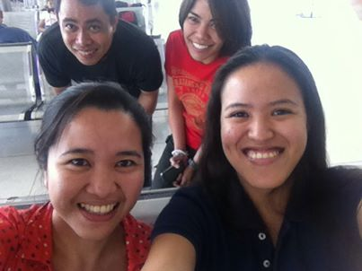 While waiting for boarding selfie at NAIA 2 (Photo grabbed from Backpacking Pilipinas)