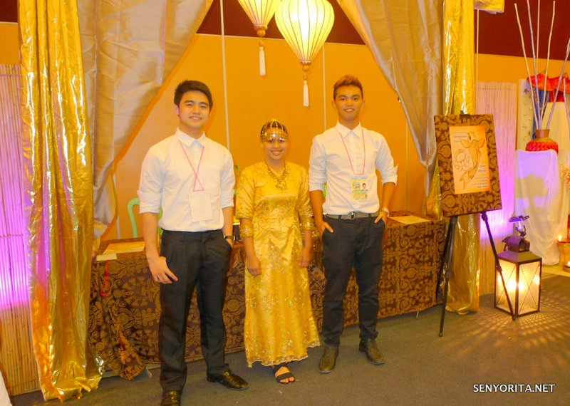 UPANG-PHINMA students on their Vietnamese-inspired booth