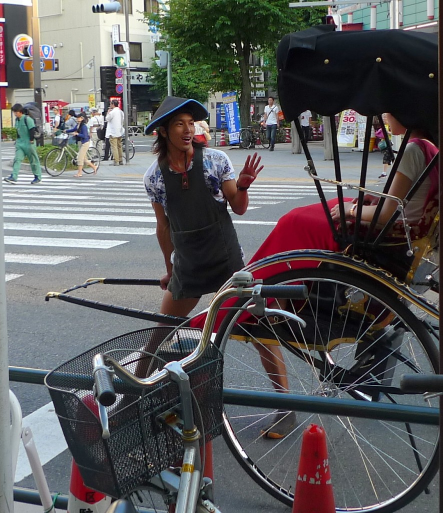 A Jolly Japanese Rickshaw Driver