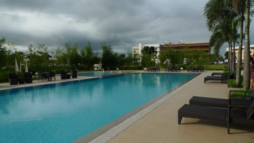 The Swimming Pool is inviting despite the unpredictable weather.