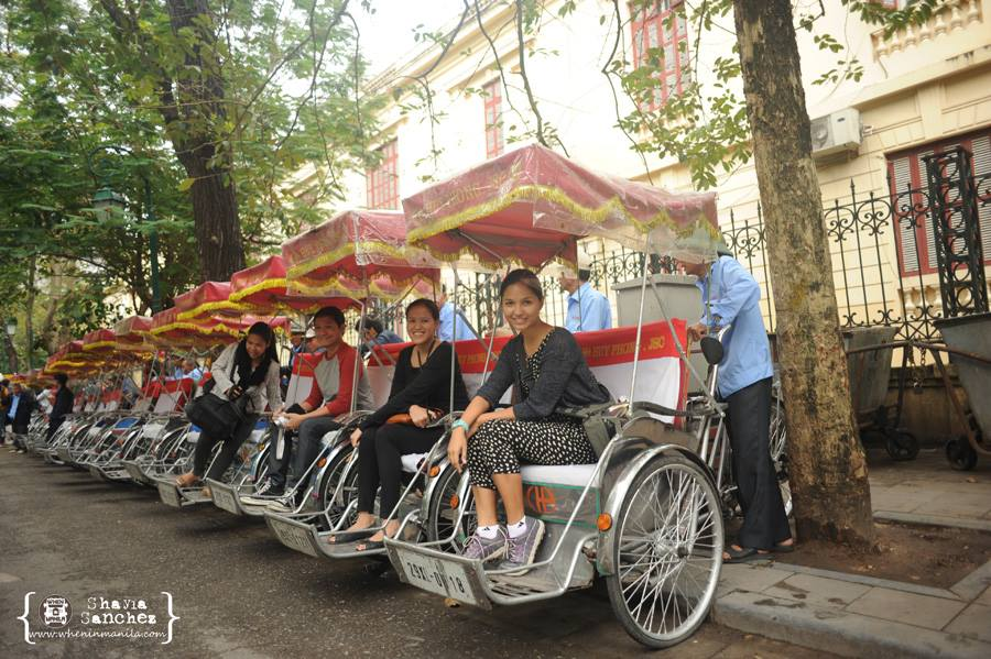 Let the Hanoi Cyclo Tour begin! | Photo Credit: Shayla Sanchez