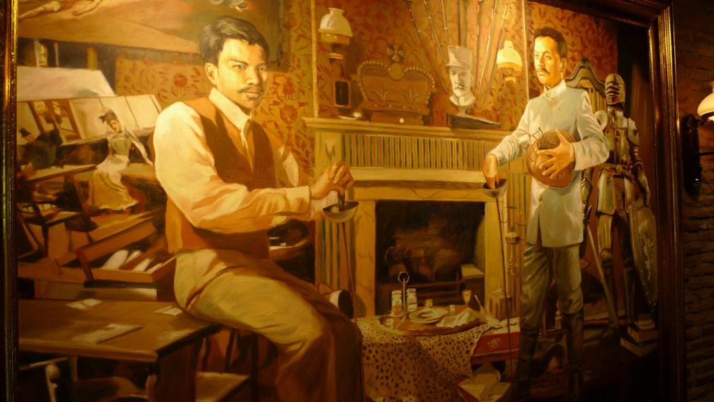 Painting of Juan and Antonio Luna