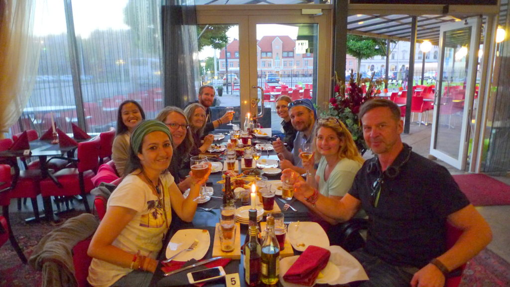 Best dinner in Karlskrona with fellow travel bloggers!