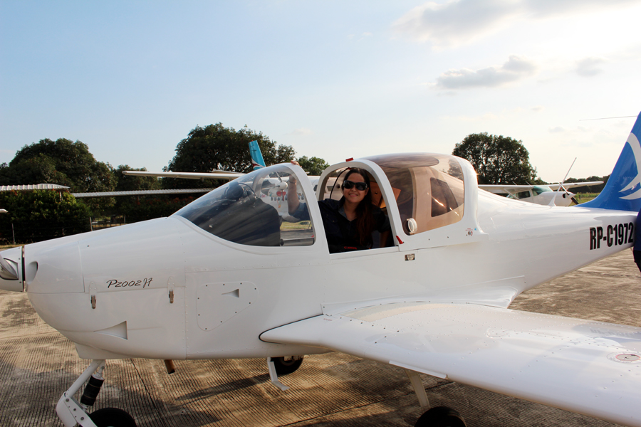 Kara Santos is ready for take off in Binalonan, Pangasinan