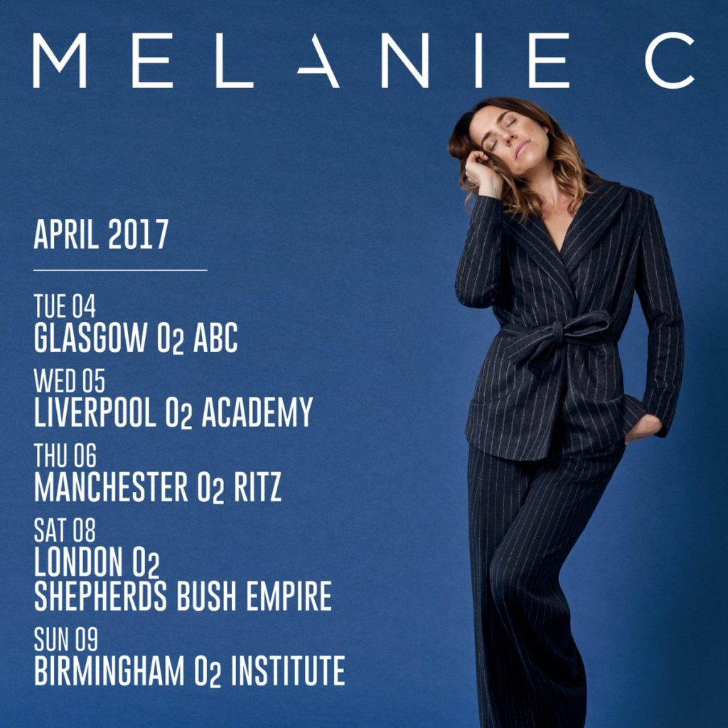 Melanie C Version of Me Tour - UK Schedule